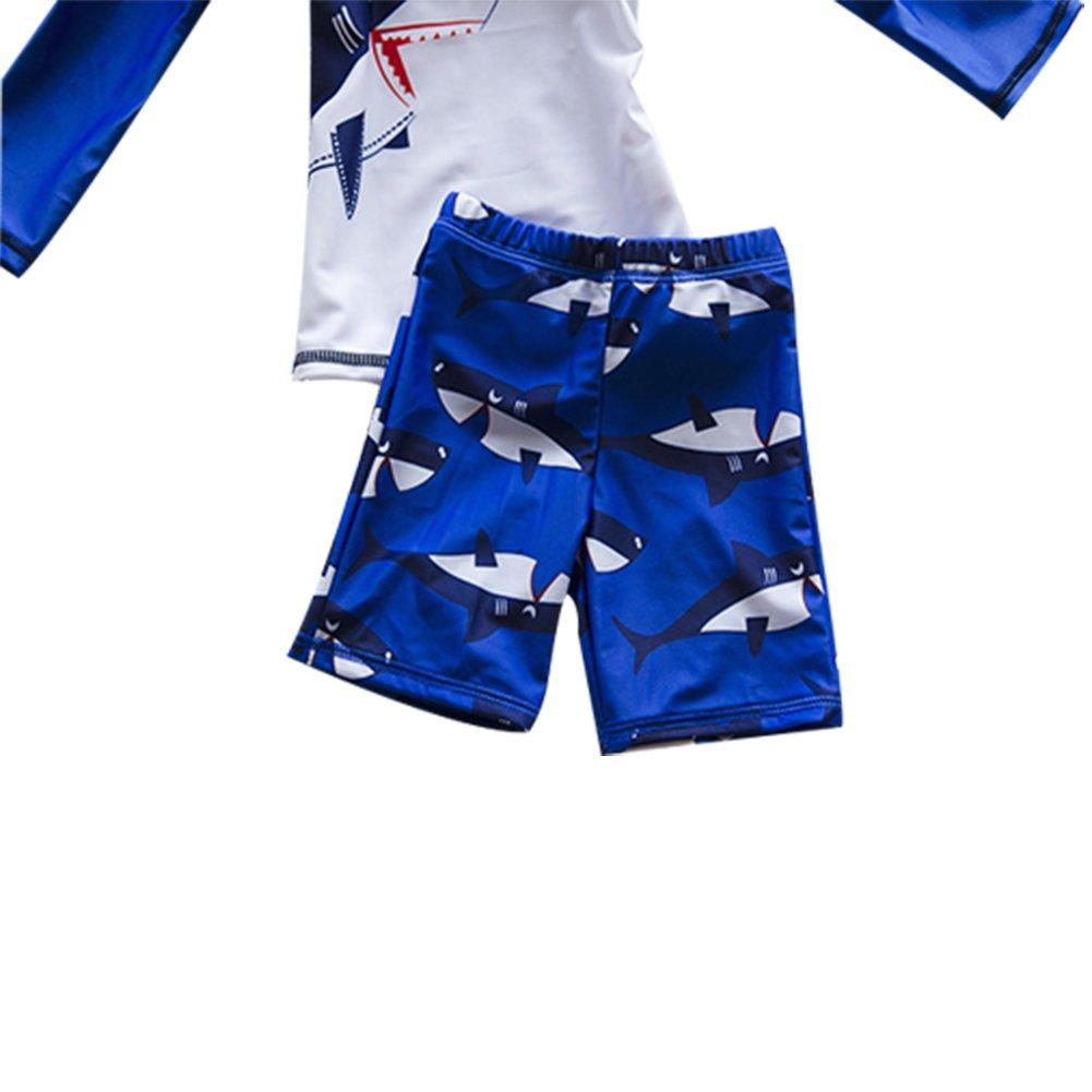Baby Toddler Boy Swimsuit Kid Rash Guard Swimwear with Swim Hat UPF 50+
