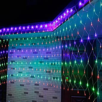 GroBartig LED Lampe Leuchten Blinken Netze Licht Sterne Wasserdichte Outdoor Rasen  Sterne Schlafzimmer Dekoration, 6