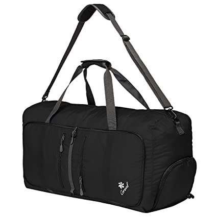 Coreal 80L Foldable Travel Camping Duffel Luggage Bag with Shoe Compartment a01644f607