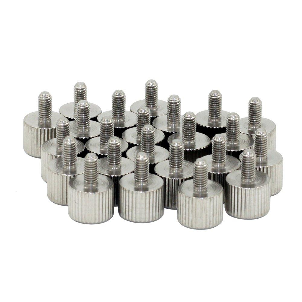 M6x12mm Knurled Screws,Thumb Screws,Stainless Steel,Metric,8 Pieces