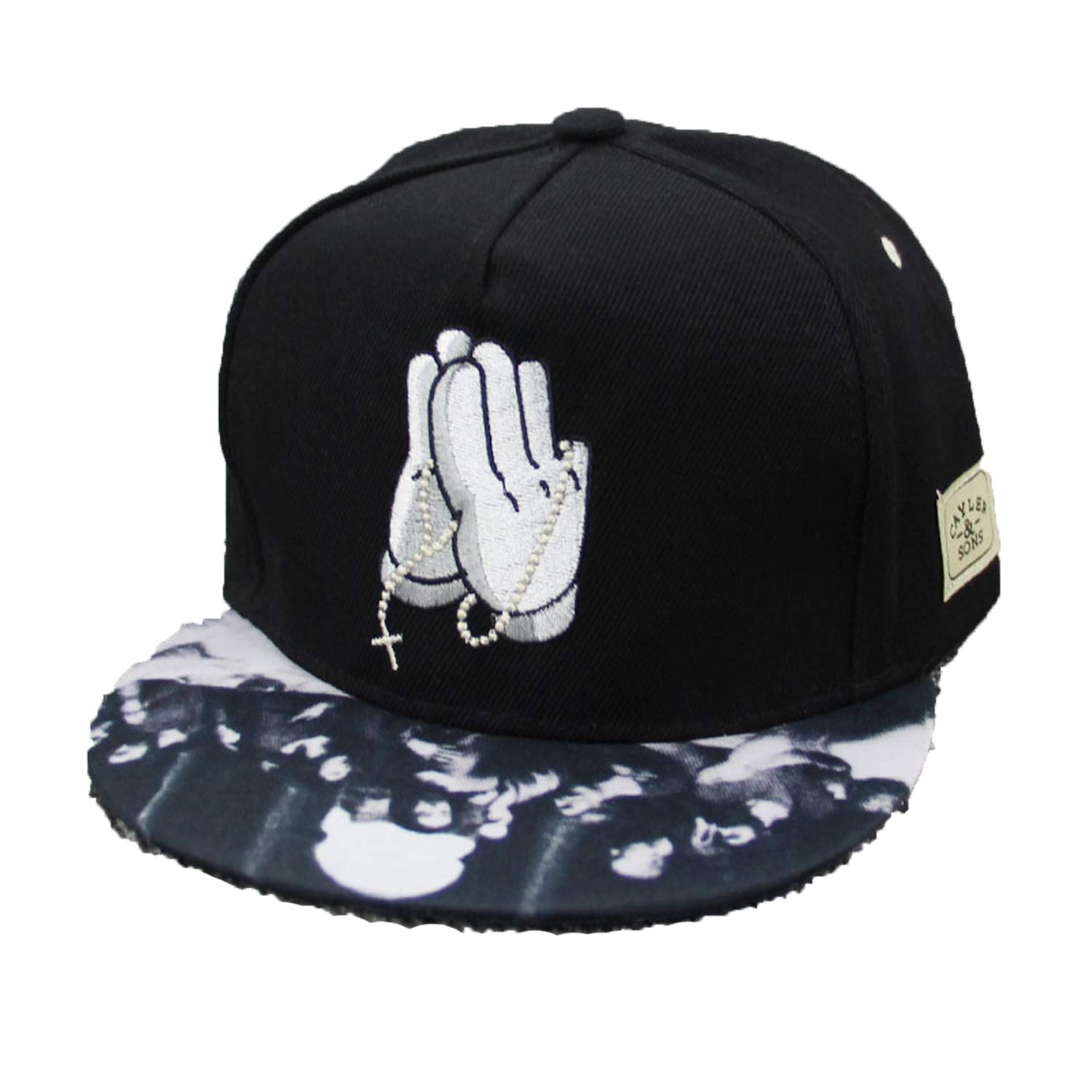New Buddha Palm Baseball Cap Hip Hop Caps for Men Womens Leather Sun Hat Snapback Hats Unisex Embroidery
