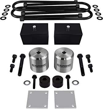 4x4 PRO KIT for Super Duty with Overload Springs Supreme Suspensions Bump Stop Spacers Shock Extenders 3 Front 2 Rear Lift for 2005+ Ford F-250 F-350 Complete Suspension Lift Kit