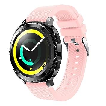 Samlike Bracelet sport de rechange en silicone souple pour Samsung Gear Sport, Rosa