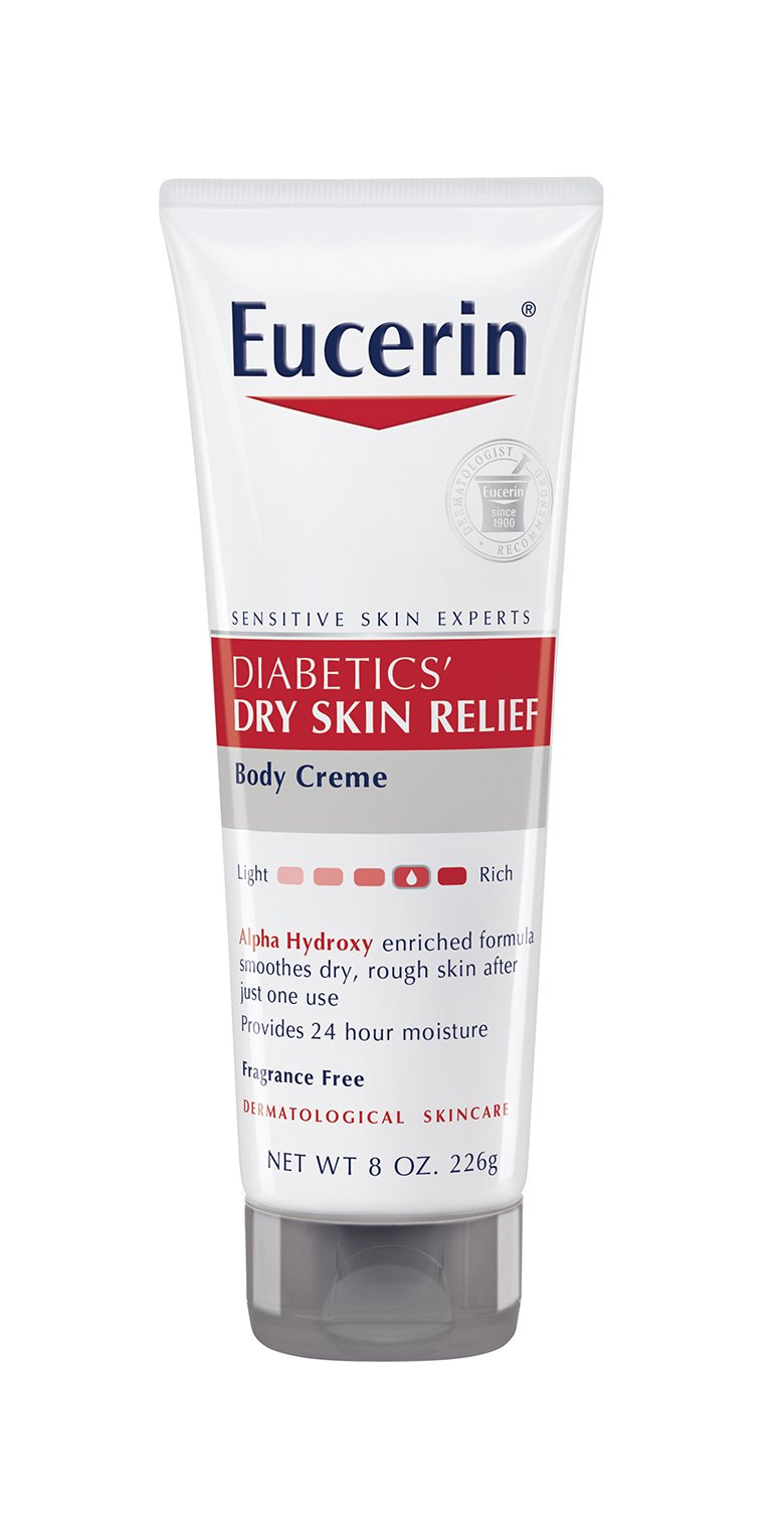 Eucerin Diabetics' Dry Skin Relief Body Creme, 8 Ounce