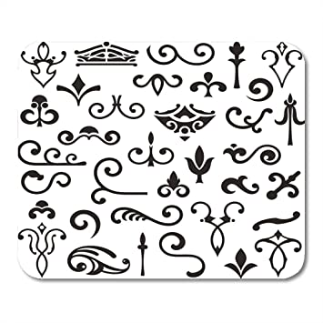 Amazoncom Boszina Mouse Pads Simple Black Dingbat Ornamental