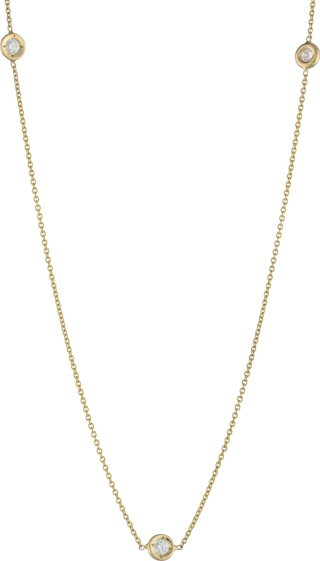 Roberto Coin Women's 5 Station Diamonds Necklace White One Size