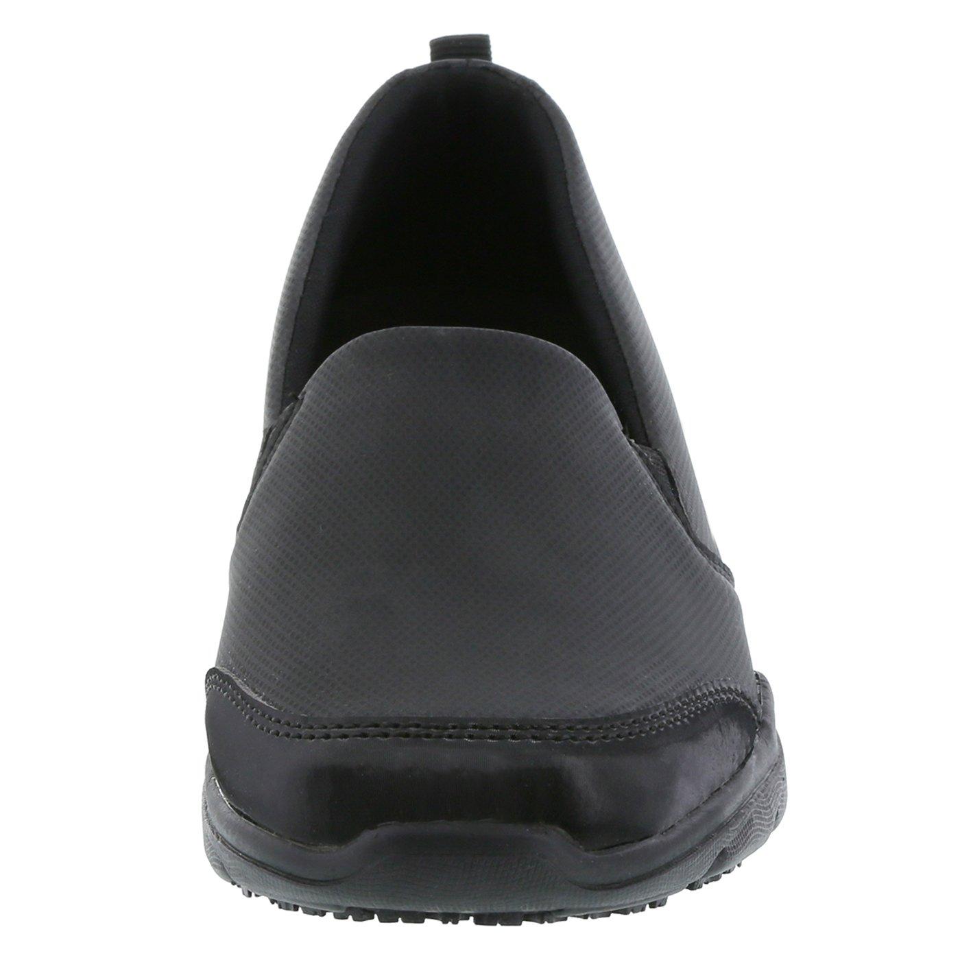 safeTstep Slip Resistant Women's Black Women's Camina Slip-On 10 Wide by safeTstep (Image #4)