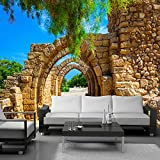 Ohcde Dheark Custom Photo Wallpaper 3D Stereoscopic Arches Brick Wall Paper Painting Wall Papers Home Decor Living Room Background Landscape300cmX210cm
