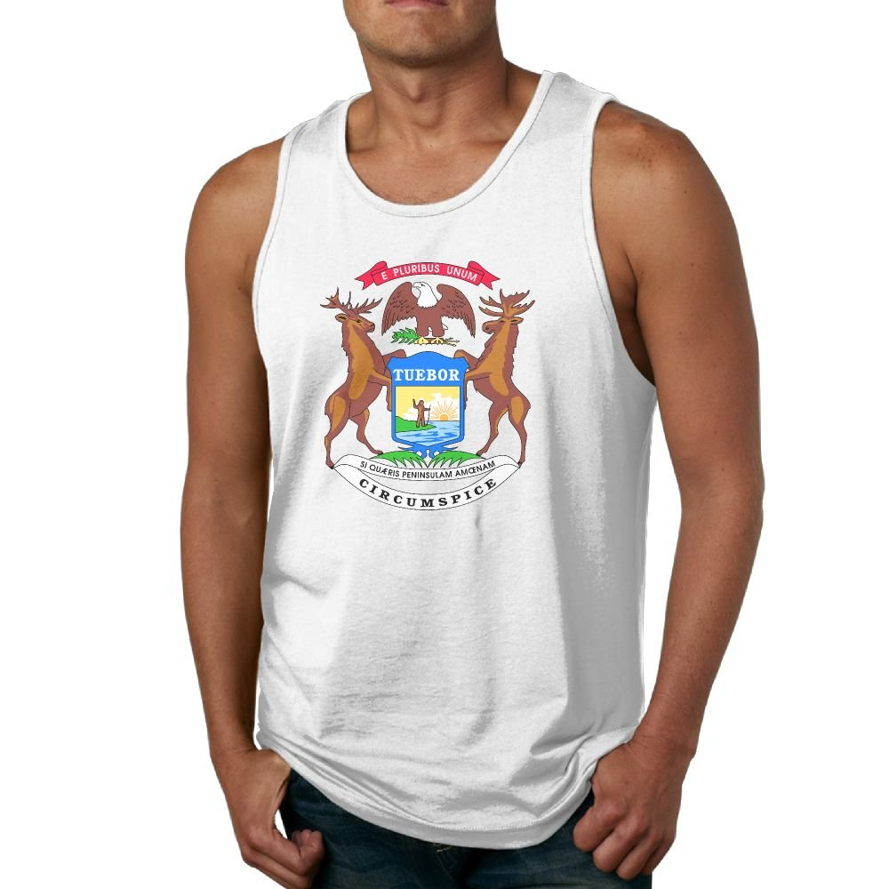 Amazon Guijia Ye Custom Michigan Flag Mens Tank Top Undershirt