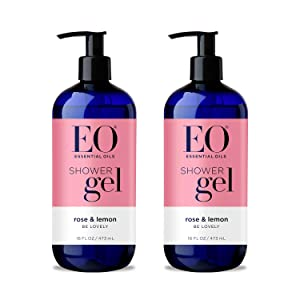 EO Shower Gel: Rose Lemon, 16 Ounce, 2 Count