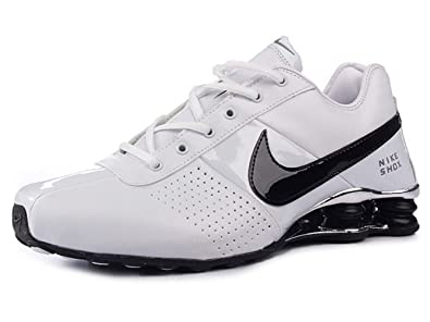 quality design 7b684 51af9 Image Unavailable. Image not available for. Colour  NIKE Shox Deliver  White Black ...