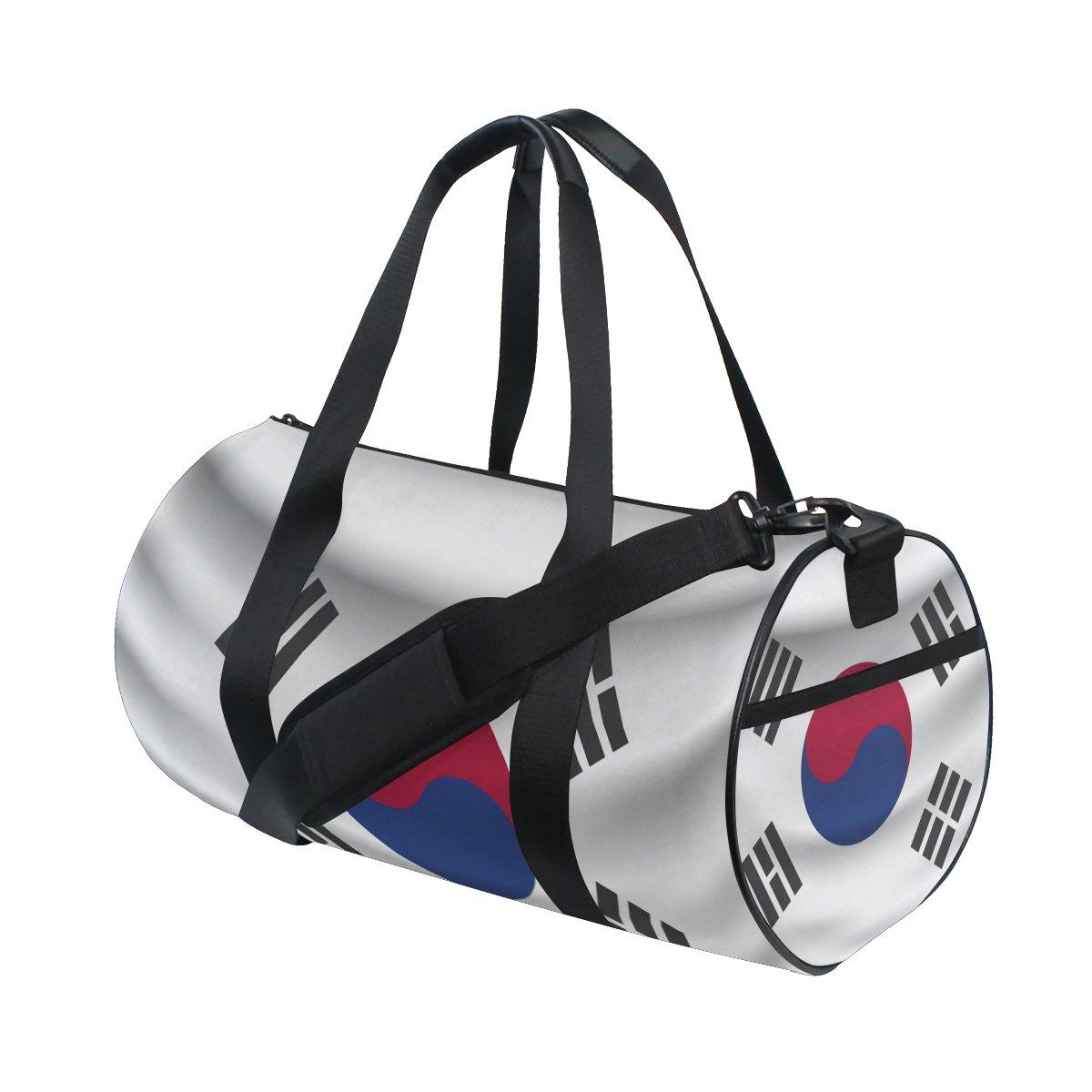 韓国国旗 トラベルダッフルショルダーバッグ スポーツジムフィットネスバッグ B07DXM2FBF