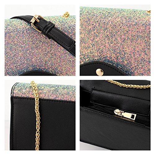 Blue Crossbody Shoulder Candice Bag Handbag Women Fashionable Sequins 00328 Shiny Bag Bag Purse Evening ppBq7H1n