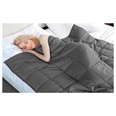 HomeTown Market Weighted Blanket Larger Than King (87  X 80 ), 30LB for Adults, Heavy Pressure Comforter (New Larger Than King (87  X 80 ), 30LB)
