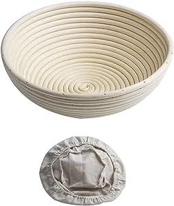 1Pcs Banneton Proofing Basket Round Brotform for Bread Dough Rising Rattan Bowl Free Liner