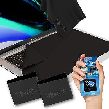 CLEAN SCREEN WIZARD Paños de Microfibra Limpiador y Protector de Pantalla y Teclados, Incluye Pegantina Limpiador de Pantallas Portátiles, Ideal para ...