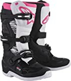 Alpinestars Tech 3 Stella Women's Motocross Off-Road Motorcycle Boots 2018 Version Black/White/Pink, Size 8
