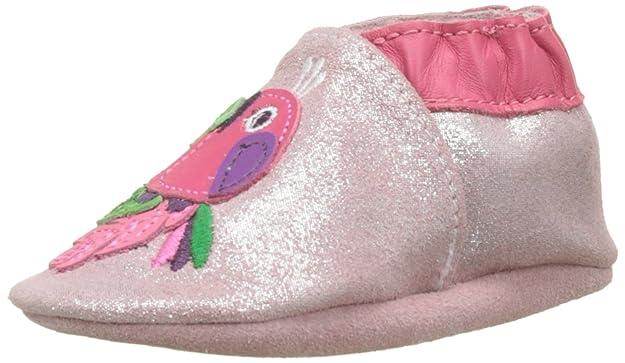 Robeez Baby Mädchen Quiet Parrot Lauflernschuhe für Babys, Rosa (Hellrosa), 17^18