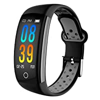 IP68 Fitness Tracker Blood Pressure Heat Rate Monitor Smart Watch Blood Oxygen Sleep Monitor Activity Tracker Pedometer Watch for Women Men
