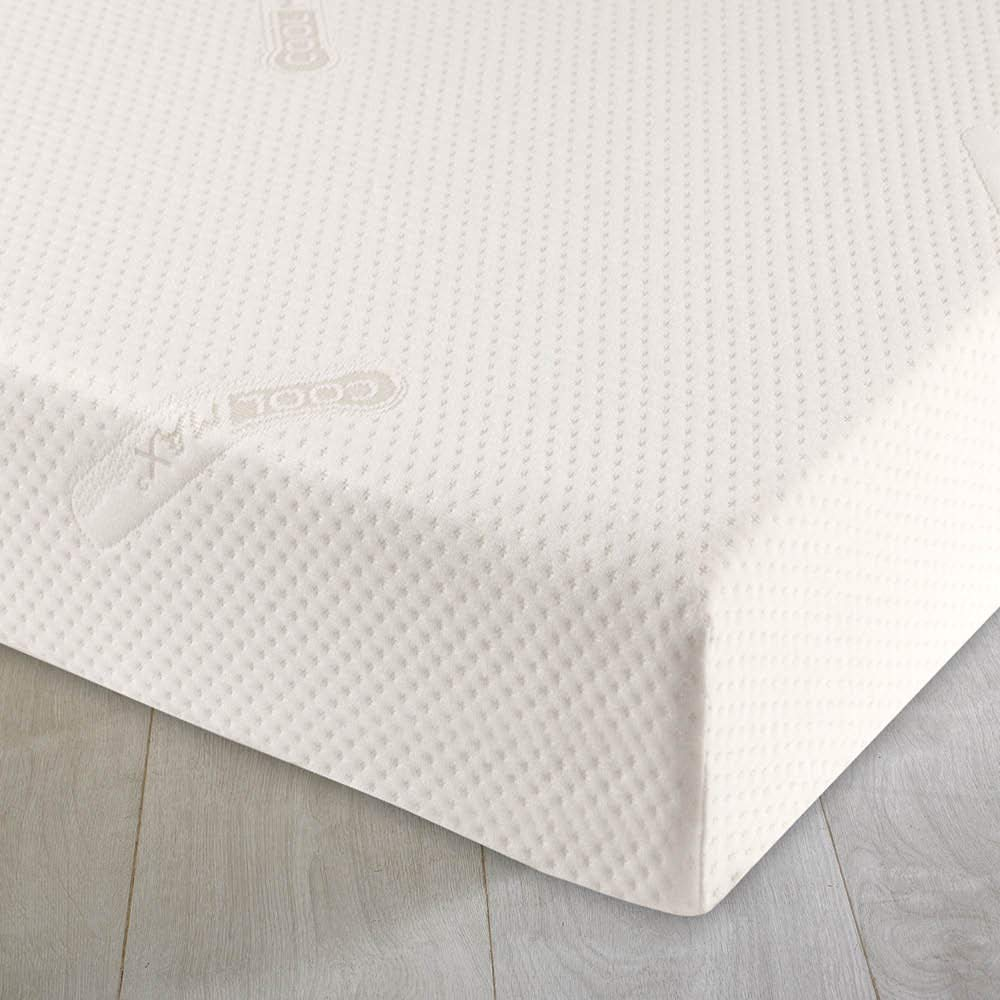 Casa DOr 74 x 28cm Quilted Breathable Foam Moses Mattress Pram Basket Baby Mattress Rounded Ends