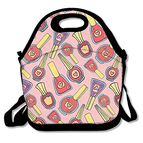 Food Storage Bag Zipper Bags Cute Fan Pattern Lunch Bag Tote Backpack For Adult Or Children