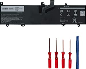 OUSIDE 0JV6J Laptop Battery Compatible with Dell Inspiron 11 3164 3168 3179 3180 3162 Series Notebook PGYK5 8NWF3 Replacement