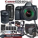 Canon EOS 6D Mark II Digital SLR Camera with EF 24-105mm IS STM Lens & EF 70-300mm IS II USM Lens & Travelers Bundle