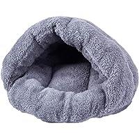 VVVVANKER Katze Schlafsack einfarbig warme weiche Winter Hund Katze Höhle Haus Schlafen Bett Nest