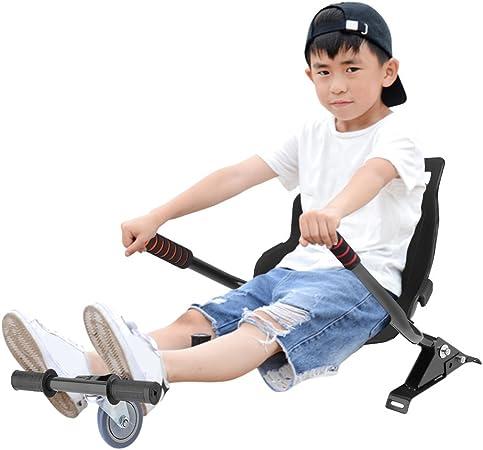 LONGITUDE Hoverboard Sitz Hoverboard Kart Aufsatz Sitzscooter Sitz f/ür Elektroscooter Kinder Erwachsene 58 /× 44 cm,Erweiterung f/ür alle Hoverboards,6,5//8//10 Zoll