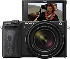 Sony Alpha 6600 - Cámara Evil APS-C con Objetivo Zoom Sony 18-135mm f/3.5-5.6 (Enfoque Automático rápido 0.02s, estabilización de Imagen óptica de 5 Ejes, 4K HLG, Pantalla inclinable para Vlogging)