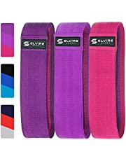 ELVIRE SPORT Booty Band Set (3 Pack): Fabric Resistance Bands for Glutes, Hips and Legs Exercise, Fitness and Workout | Yoga, Pilates, CrossFit, Physiotherapy and Recovery | Men & Women