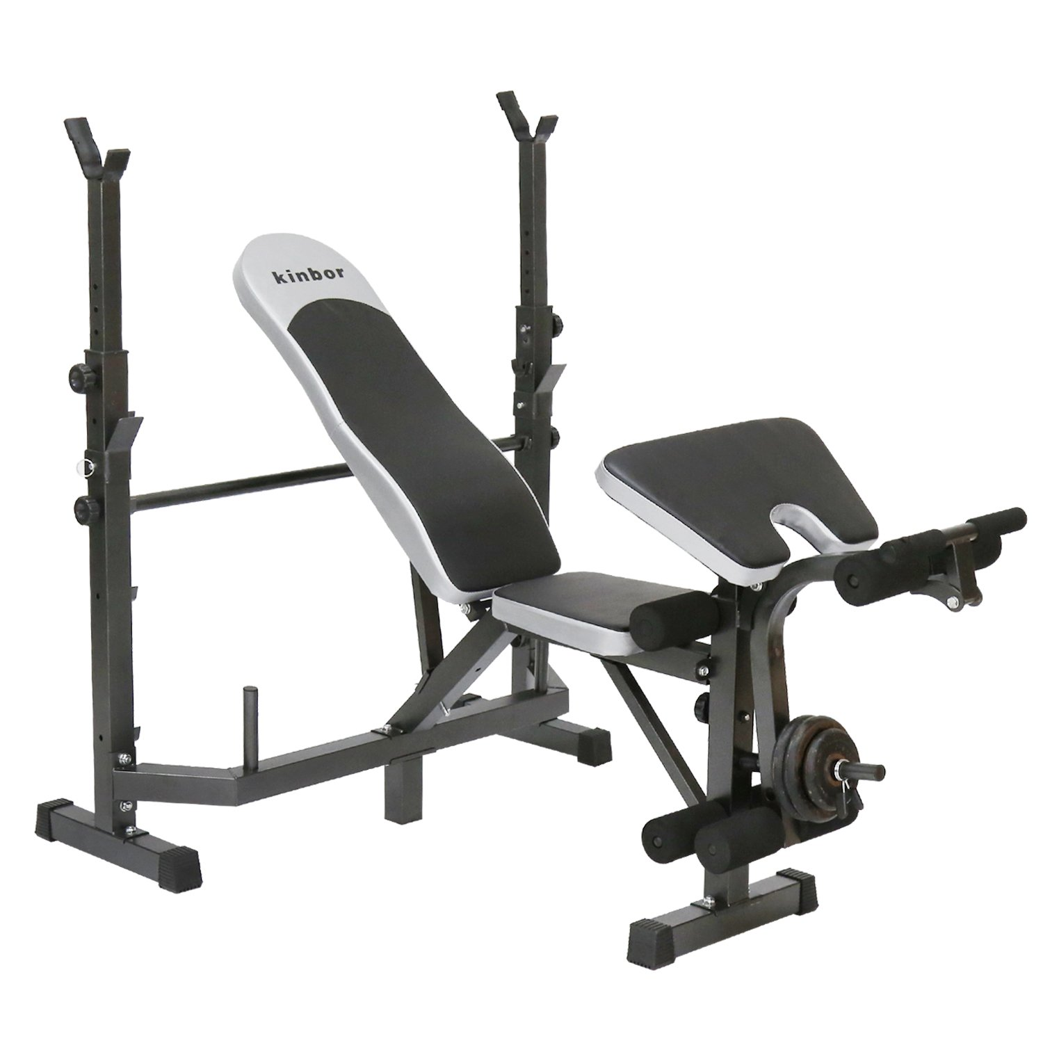 Peach Tree Multi-station Weight Bench Adjustable Workout Bench with Leg Extension Incline Flat Decline Sit Up Fitness Equipment for Gym or Home Exercise by Peachtree Press Inc