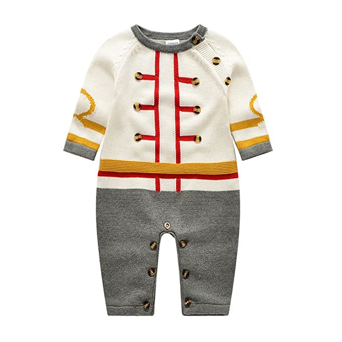 b105feeffcf8 Auro Mesa British Style Baby Clothes Knit Romper Long Sleeve Newborn Baby  Jumpsuit Outfits (6