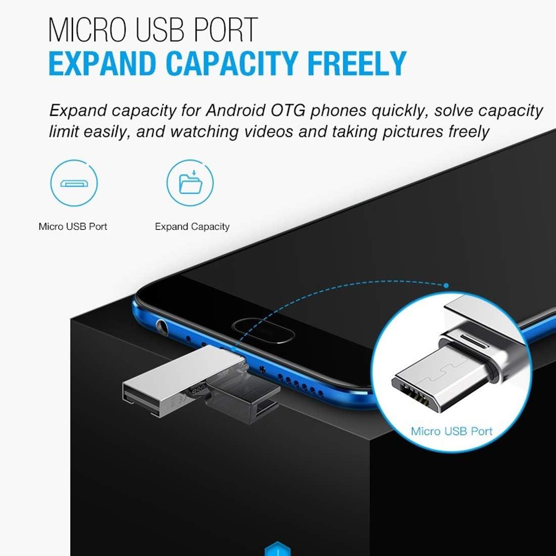 JIANGNIUS Cable XQ-R006 TF & USB to Micro USB Card Reader OTG ...