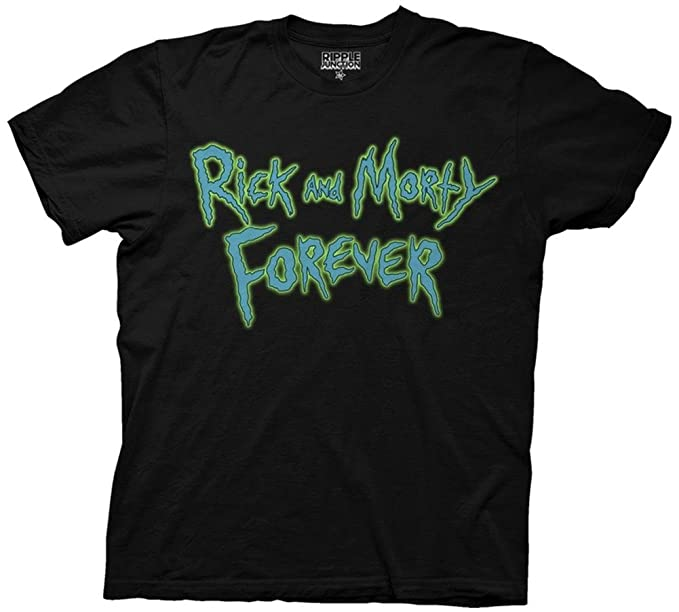 Ricky and Morty Forever Camiseta negra para hombre: Amazon.es: Ropa y accesorios