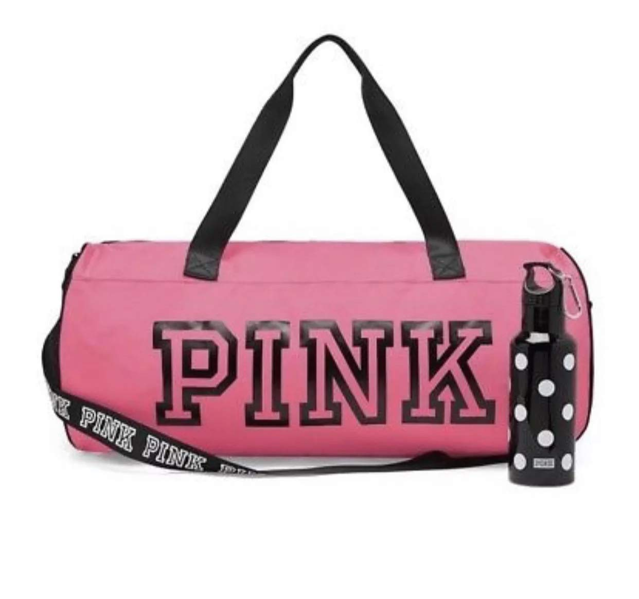 e0a57881b0de Amazon.com  Victoria s Secret PINK Friday Duffle   Campus Water Bottle Duo Neon  Hot Pink  Sports   Outdoors