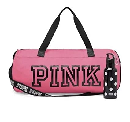 5d397ec3fa9b Victoria's Secret PINK Friday Duffle & Campus Water Bottle Duo Neon Hot Pink