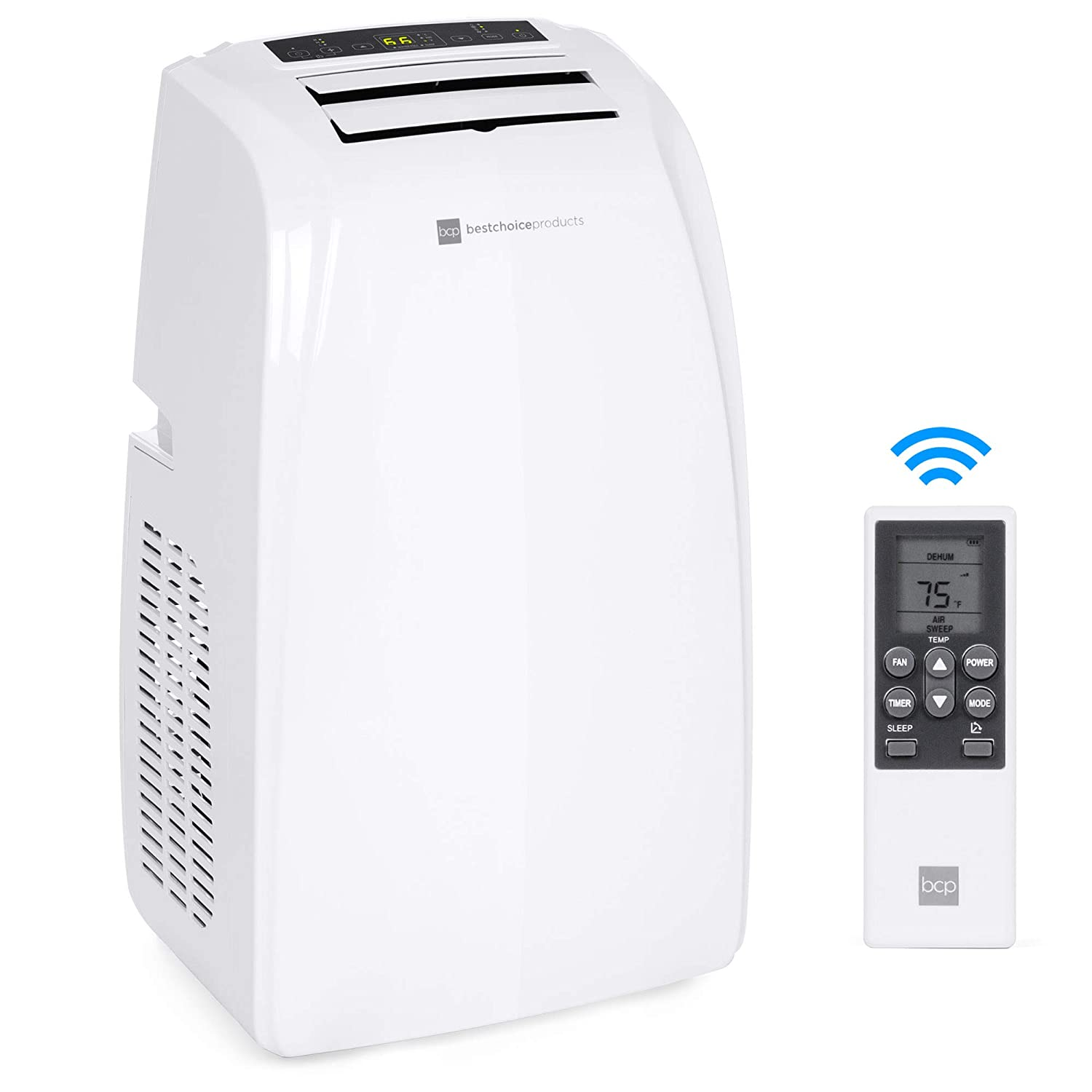 Best Choice Products 14,000 BTU Portable Air Conditioner Cooling and Heating Unit for Up to 650 Sq. Ft w/Remote Control