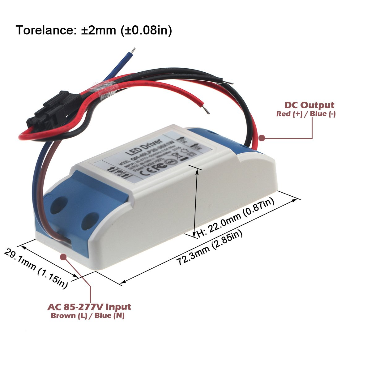 Chanzon Led Driver 900ma Constant Current Output 6v 10v Input 85 Or Sink In Upto 200ma Of You Can Connect About 18 Leds 277v Ac Dc 2 3 X3 9w 10w Power Supply 900 Ma Lighting Transformer Drivers For 10 W