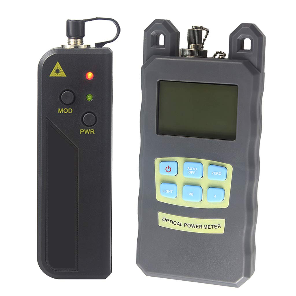 SM SunniMix 1Set -70dBm~+10dBm 850~1625nm Optical Power Meter Tester FC SC Handheld Optical Power Meter + 20mW Visual Fault Locator Pen