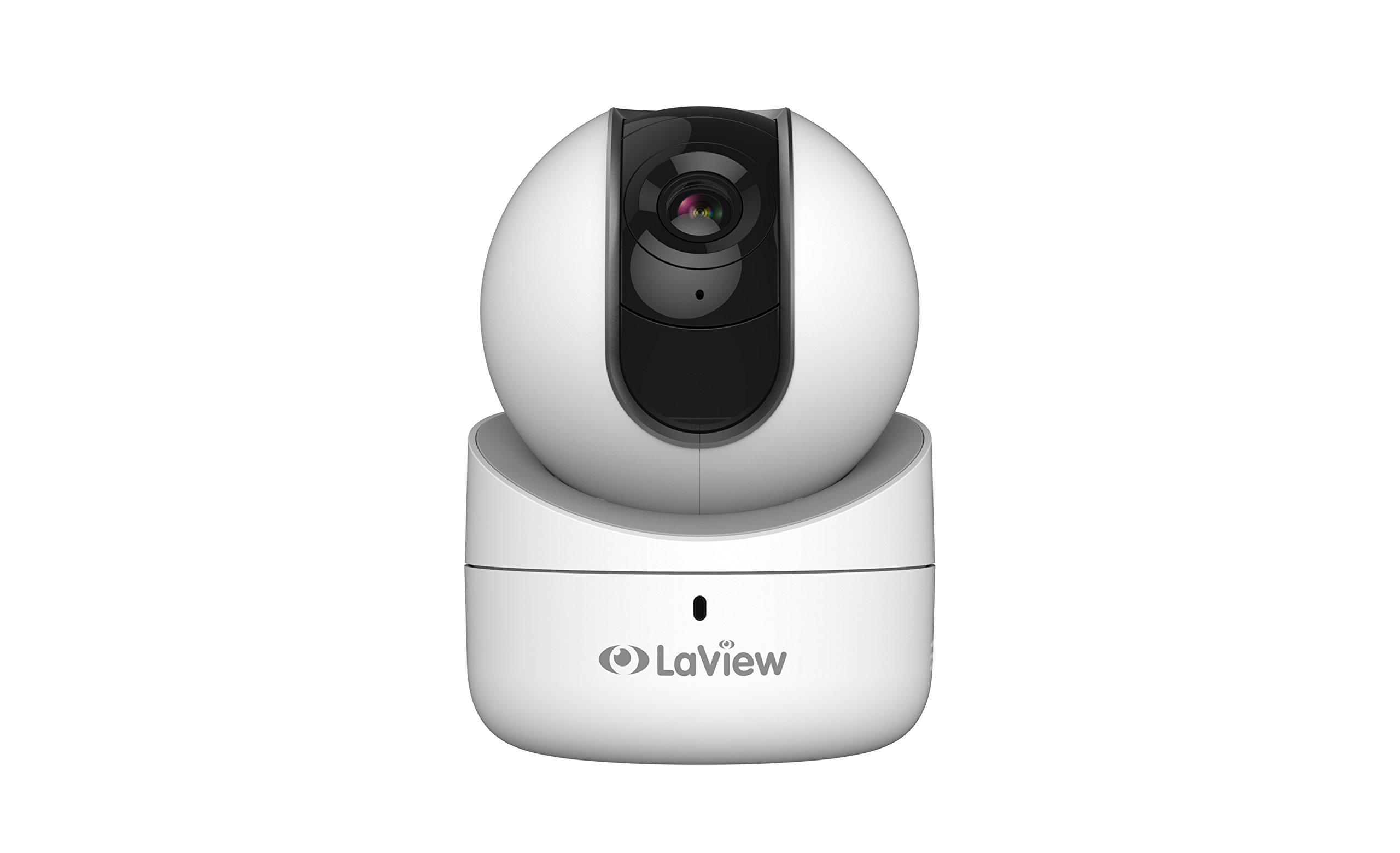 LaView 1080P Wi-Fi 360° Indoor Security Camera, Remote Pan Tilt Camera with Micro SD On-Board Storage, Two-Way Audio, Night Vision Surveillance, Motion Detection, Remote View - 16GB SD Card Included