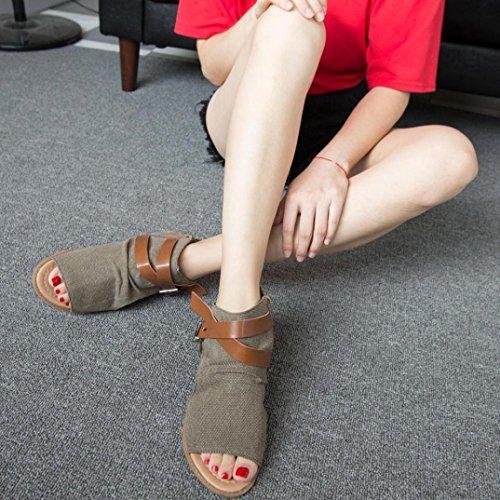 Solide Sandale Plat Randonnee Fille Taille Femmes Poissons Sandales Bretelles Grande Ado Bouche Café Angelof Femme Chaussures Fermé f1tqxB8
