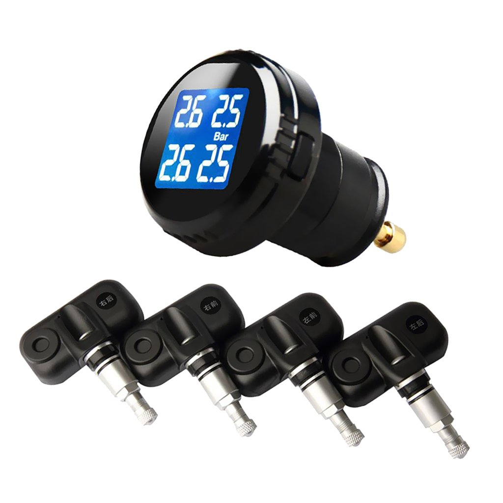 Dovewill Wireless Car TPMS Tire Tyre Pressure Monitor System and 4 Internal Sensors Kits