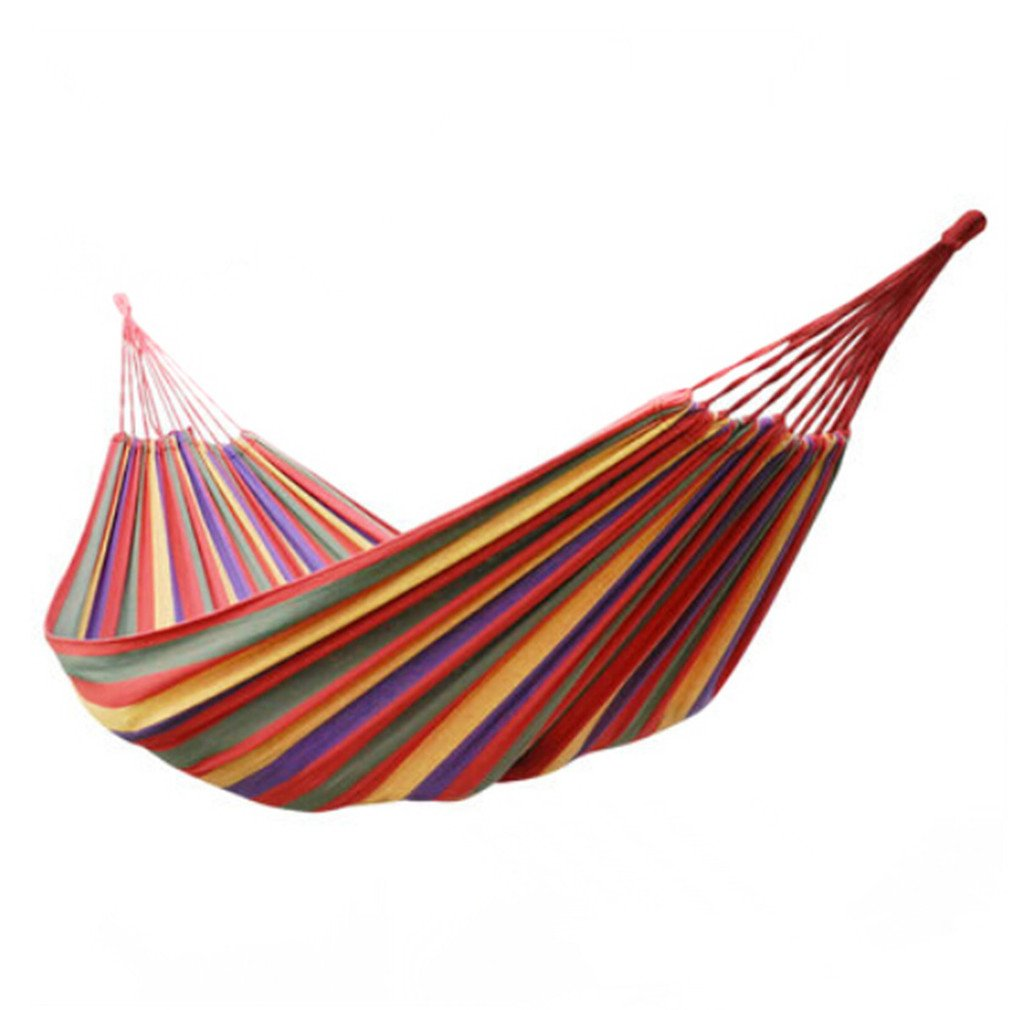Hangwa genuine single double thick canvas hammock outdoor camping casual student dormitory bedroom indoor swing by outdoor B00VBOAZ04