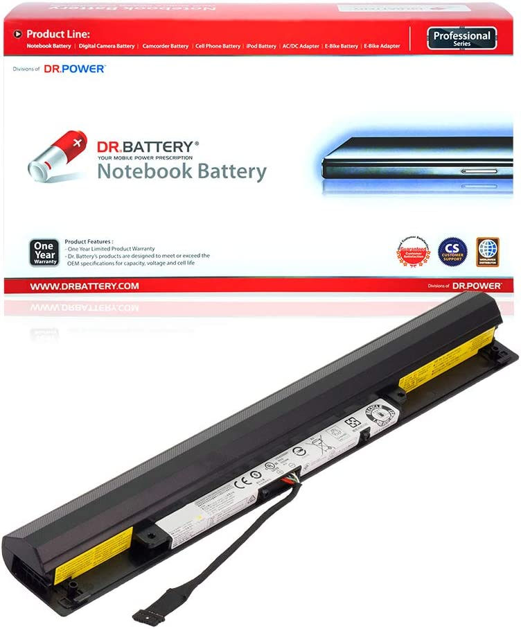 DR. BATTERY L15L4A01 Battery Compatible with Ideapad 100-15IBD 110-15ISK 300-15IBR 300-15ISK L15L4E01 41NR19/65[14.4V/2200mAh/32Wh]