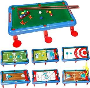Mesa de billar Mini mesas de Billar Multifuncional Mesa De Juego De Mesa Mesa De Billar De Mesa Negro Americano 8 Fresco Juegos Niños Y Niñas De Interior Regalo De Cumpleaños Siete-en-uno: