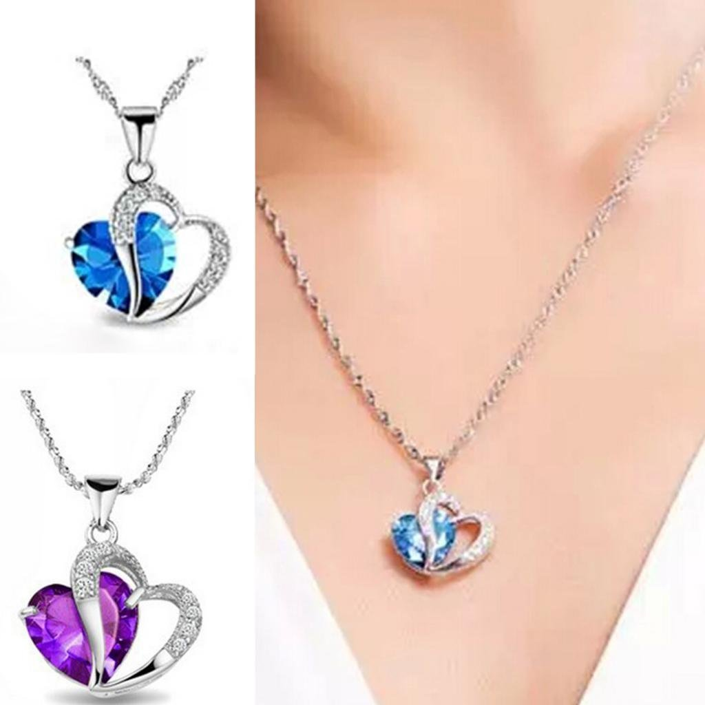 products paw love crystal pendant necklace heart hound dog shaped boxer rhinestone
