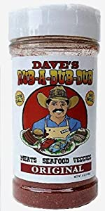 Dave's Rub a Dub Dub Original BBQ Dry Rub Seasoning Low Sodium Spice Blend for Meats Seafood Veggies 5 OZ Shaker Bottle 2 Pack