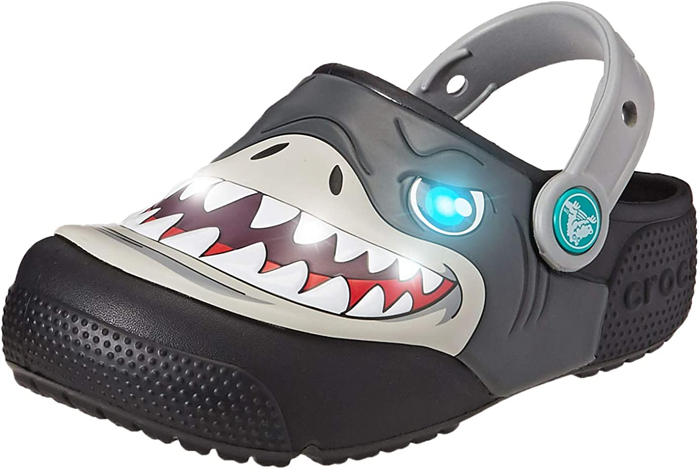 Crocs Kids' Boys and Girls Shark Light-Up Clog