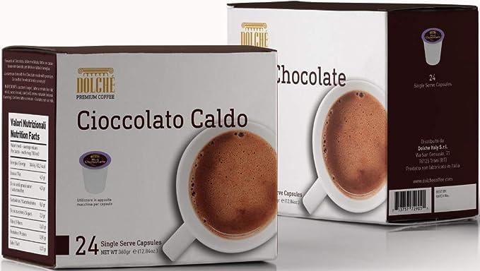 Dolché, HOT CHOCOLATE, Cápsulas Compatibles con Keurig K-cup 2.0, pack 96 capsulas (4x24)